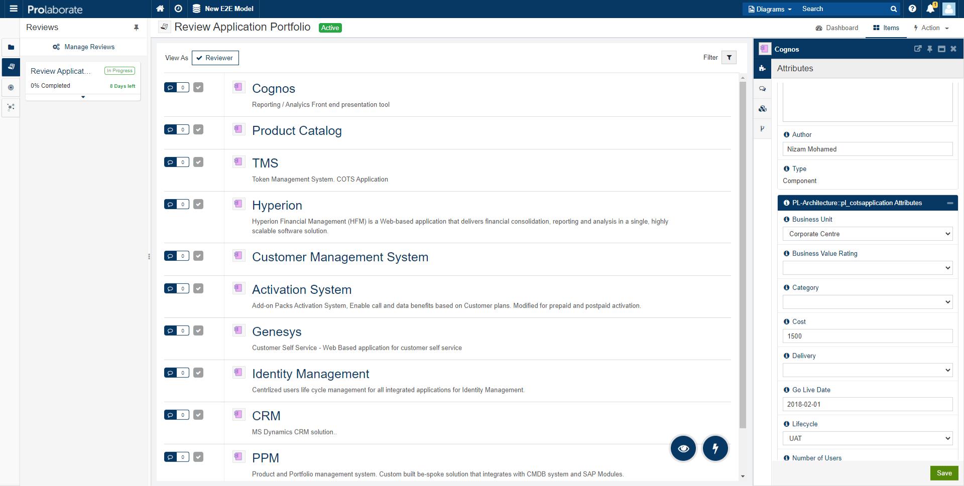 Review Application Portfolio