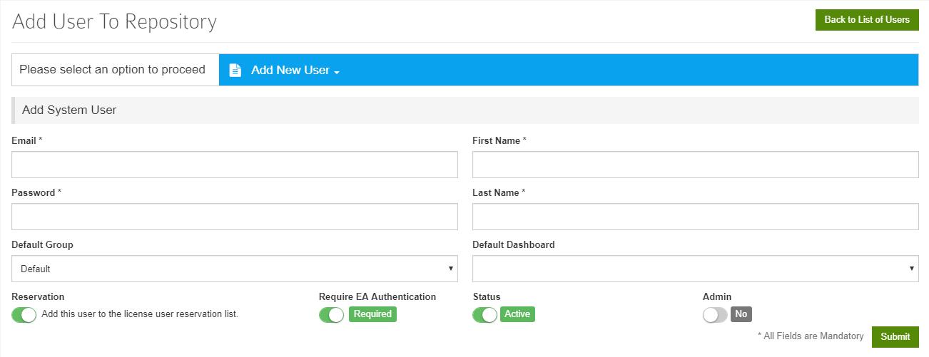 Add New System User
