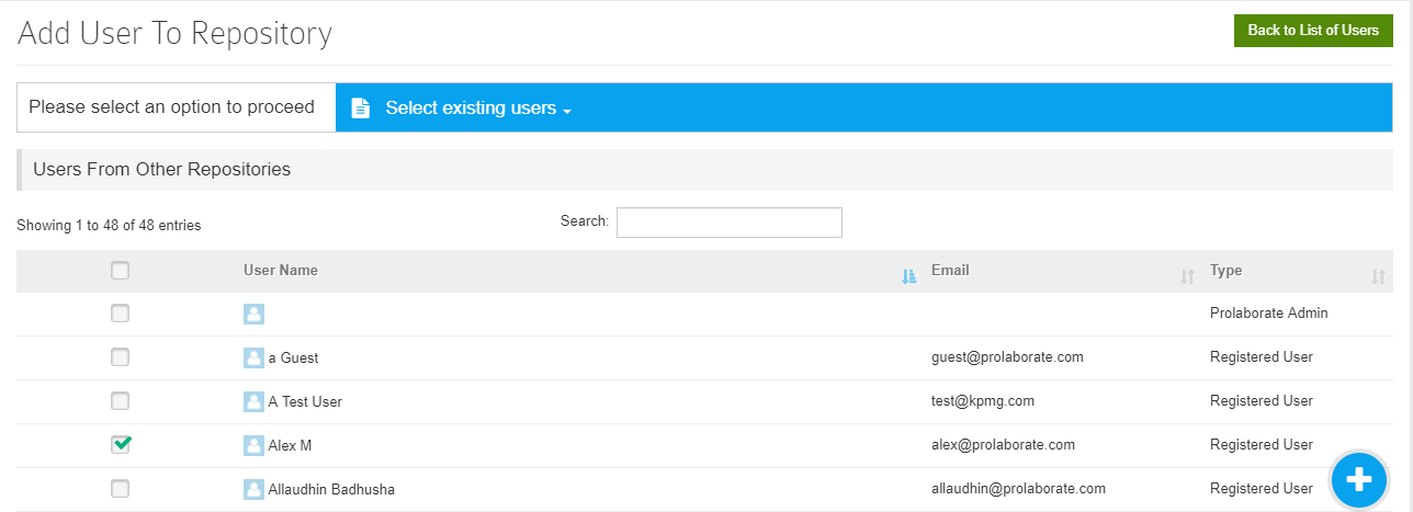 Add Users from Other Repositories