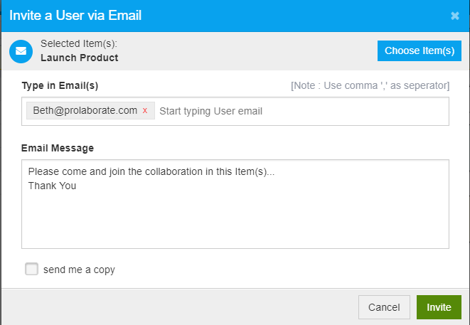 Invite Users to Collaborate