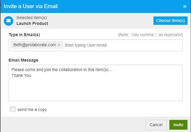 Invite Users to Collaborate