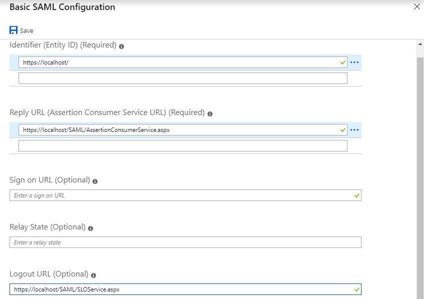 Basic SAML Configuration