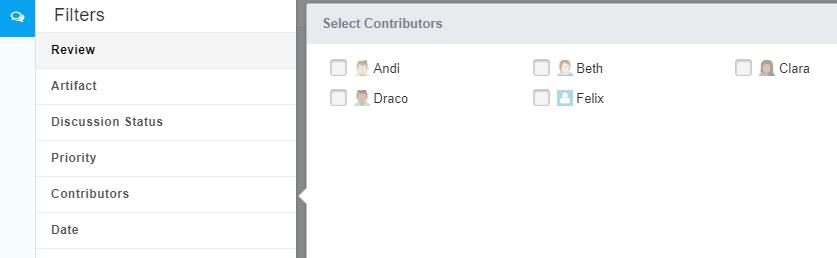Contributors Filter