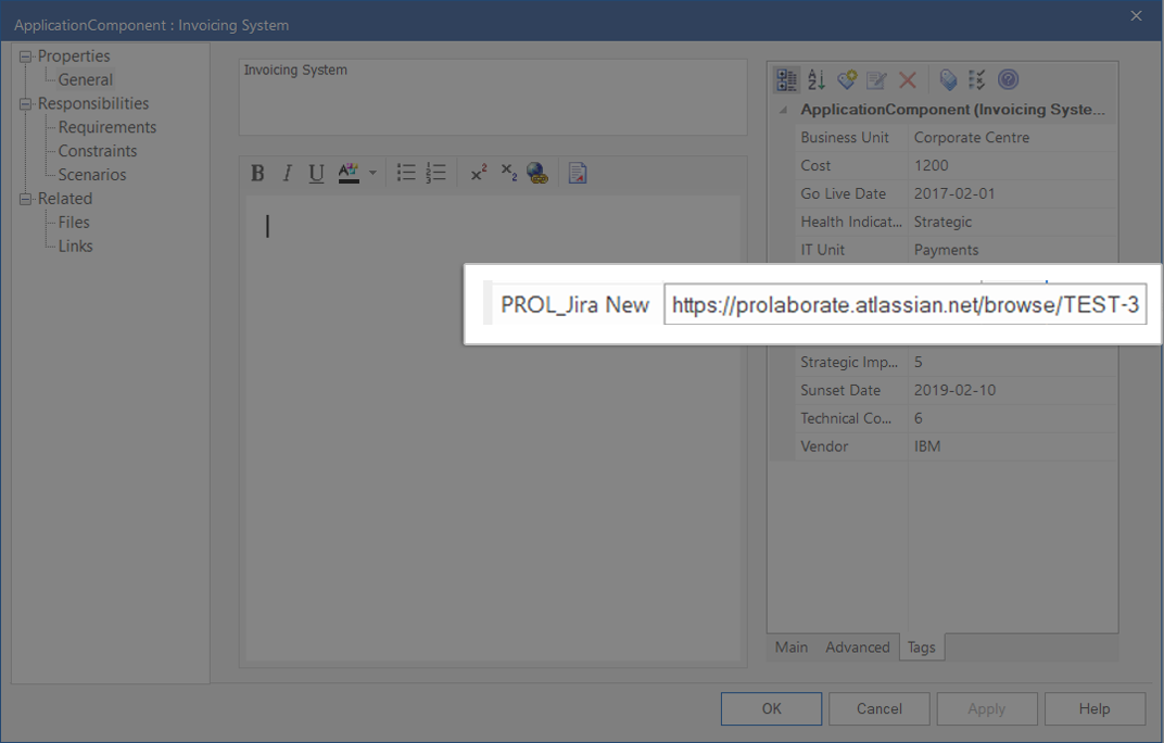 See Jira Links from EA