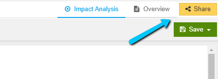 Enable Share Impact Analysis View