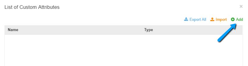Manage Custom Attributes