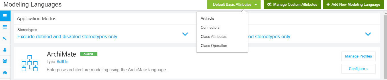 Set Default Attributes