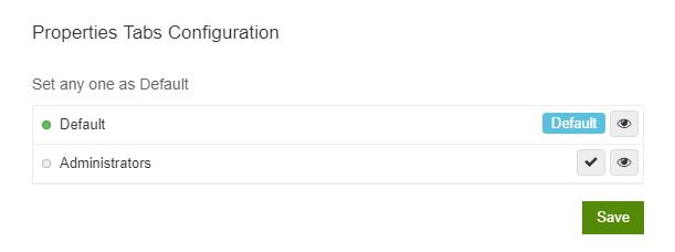 Properties Tab Configuration