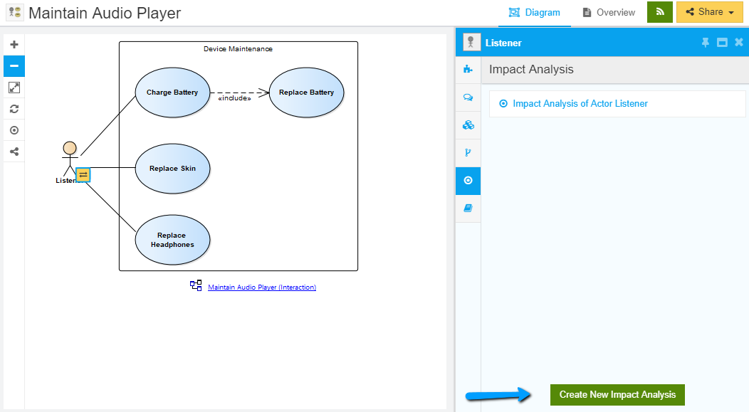 Create Impact Analysis Views