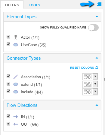 Change the position of Filter and Tools