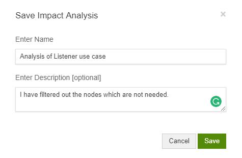 Save the Impact Analysis Views