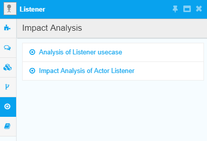 View saved Impact Analysis Views