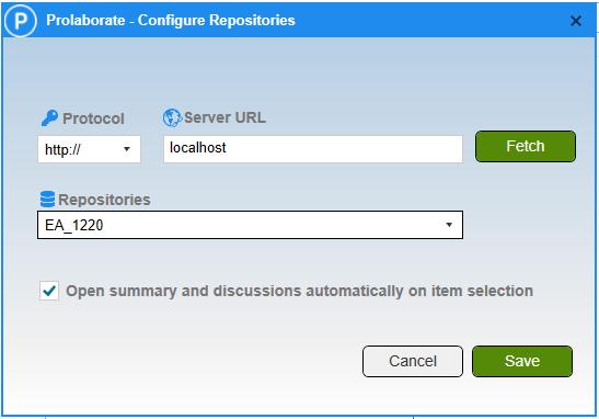 Prolaborate Configure Repository