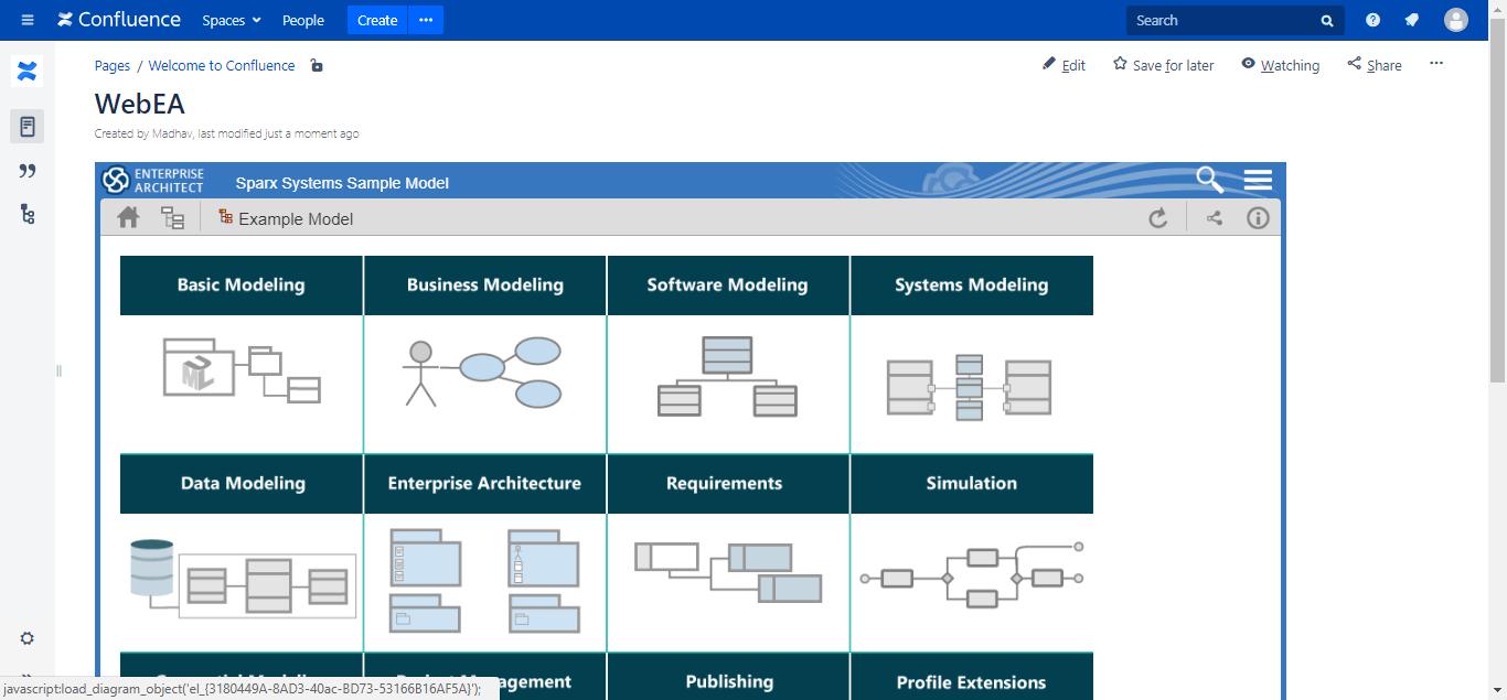 Embed EA diagrams in Web Portals
