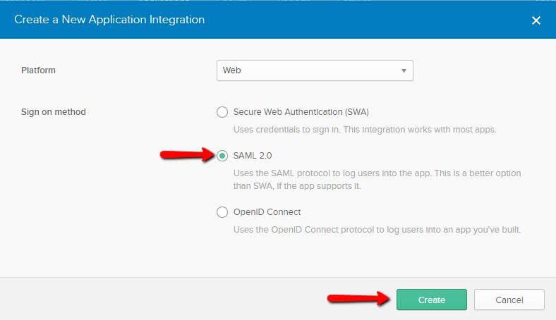 Sign on SAML 2.0
