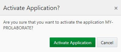 Activate Application
