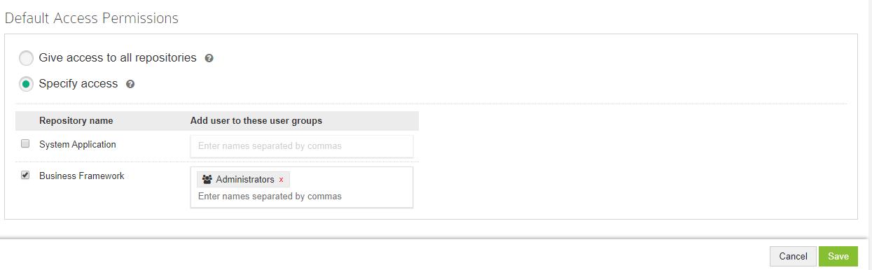Default Access Permission
