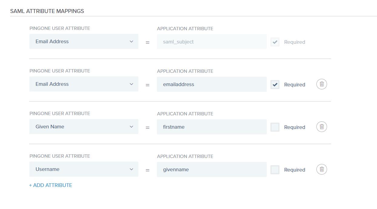 SAML Attribute Mapping