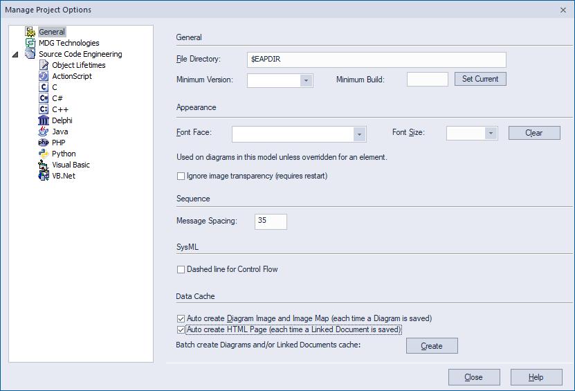 Create Data Cache