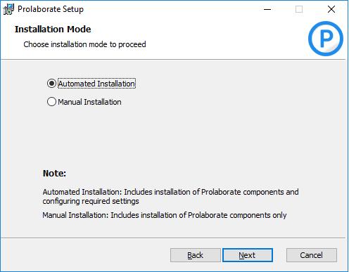 Set Installation Mode