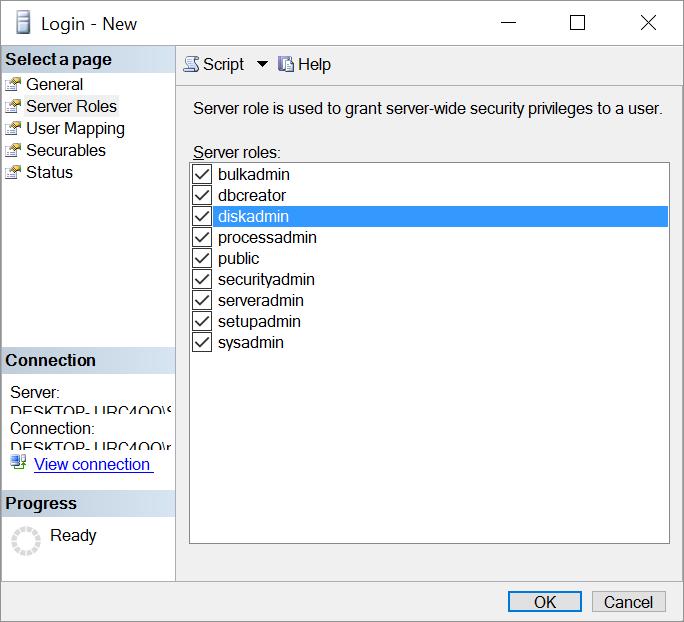 Sql Server Configure