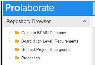 Prolaborate Repository Browser