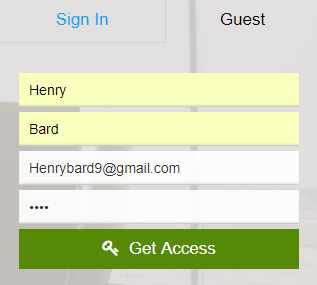 Guest Signup Steps