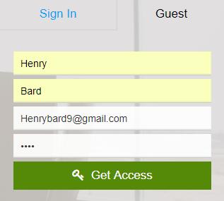 Guest Signup Steps